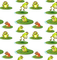 Seamless frogs vector image