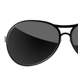sunglass black art vector image