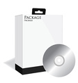 Black software box with disk vector image