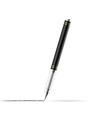 Gel pen draws a line vector image vector image