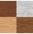 Wooden Seamless Backgrounds Set vector image