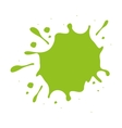 green paint stain isolated icon design vector image