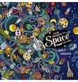 Cartoon cute doodles hand drawn space frame design vector image vector image