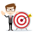 aim in business flat design vector image