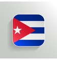 Button - Cuba Flag Icon vector image