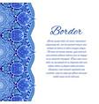 card with mandala border card or invitation blue vector image