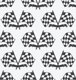 Checkered Flag seamless pattern racing flags icon vector image