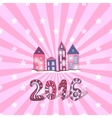 Cute New year background doodle sweet vector image