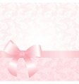Delicate pink lace background vector image
