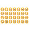 double-six dominoes flat icon set vector image