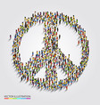 large group of people gathered together in peace vector image