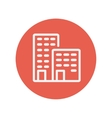 Office buildings thin line icon vector image
