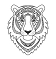 Ornamental White Tiger vector image