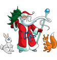 Santa Claus with animals vector image