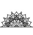Semi-ircular ornament in ethnic style vector image