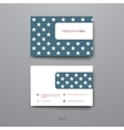 Set of Design Business Card Template in Presidents vector image