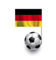 Soccer Balls or Footballs with flag of Germany vector image