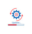 update application progress icon vector image