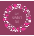 Valentines Day mosaic icons frame card vector image
