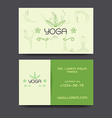 Yoga business card vector image