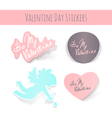 Valentine Day realistic stickers on white vector image