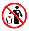 Dont Love concept vector image vector image