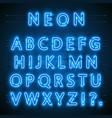 neon font city neon blue font english city blue vector image