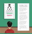 ophthalmologist eye clinic vector image