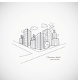 Cityscape background vector image vector image