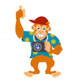 Monkey with a cam vector image