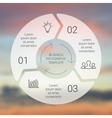 Circle line arrows infographic Template for cycle vector image