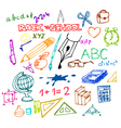 back to school illustrations vector image vector image