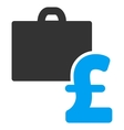 Pound Accounting Flat Icon Symbol vector image