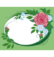 abstract cornflowers and roses the vignette vector image