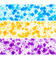 Banners set with rhombs vector image