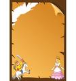 fairytale frame vector image