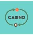 flat icon on stylish background casino chips vector image