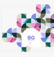 Geometric circle abstract background vector image