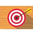 goals target board bullseye vector image