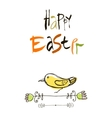 Happy Easter card design calligraphic text vector image