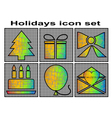 holidays icon vector image