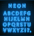 neon font city neon blue font english city blue vector image
