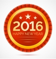 Red christmas badge 2016 happy new year vector image