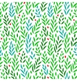 Subtle green leaves floral seamless pattern on vector image
