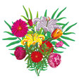 flower buquet isolated vector image vector image