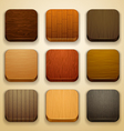 wood background for the app icons vector image