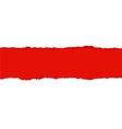 Red Fragmentary Paper Border vector image vector image