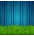 creative grass on wooden background vector image