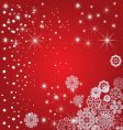 snowflake decoration vector image vector image