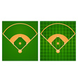 Baseball field in two lawn designs vector image